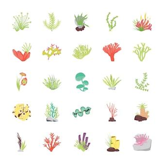 Стоуни коралловый риф плоские иконки