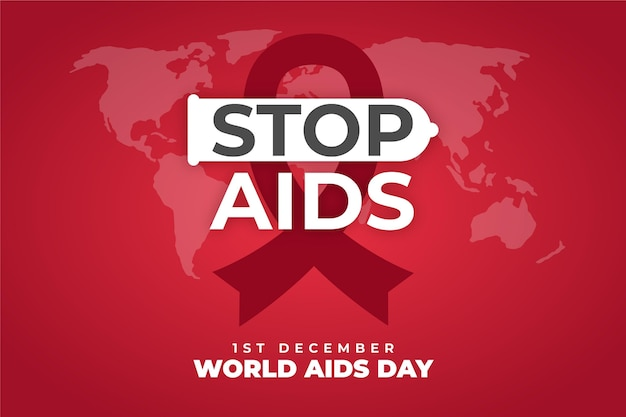 Stop aids message background