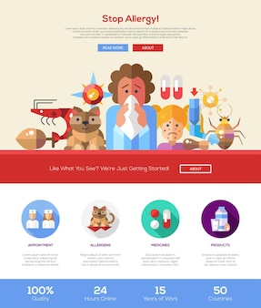 Stop allergy information website template