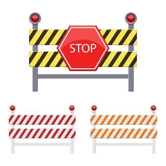 白い背景で隔離の障壁図を停止します。