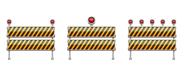 Stop barrier illustration isolated on white background