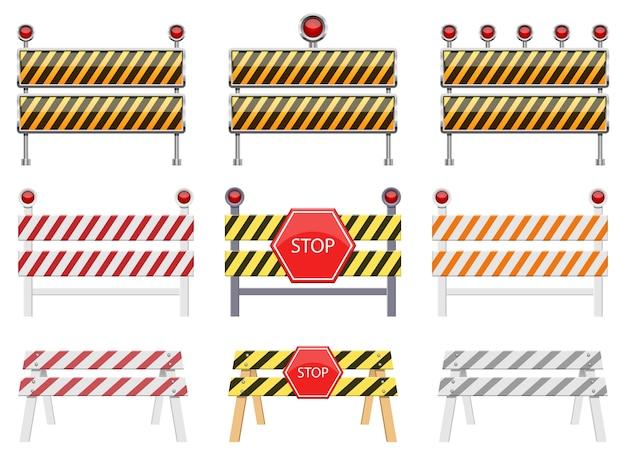 Остановить барьер, изолированные на белом фоне