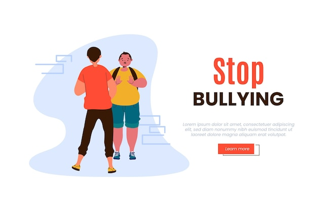 Stop bullying illustration concept