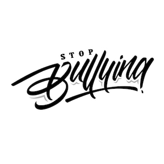 Stop bullying letterin text