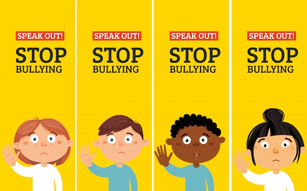 Stop bullying stickers. social problems of humanity-24