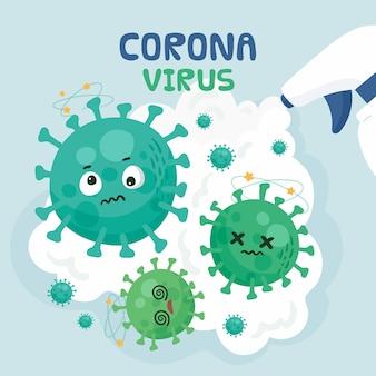 코로나 바이러스 개념 중지