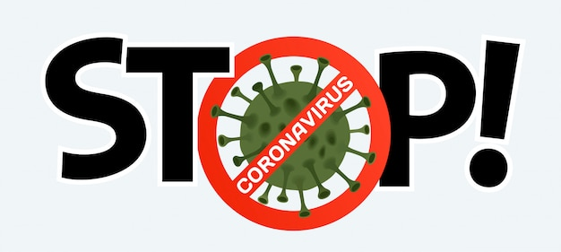Stop coronavirus. coronavirus icon with red prohibit sign, 2019-ncov.