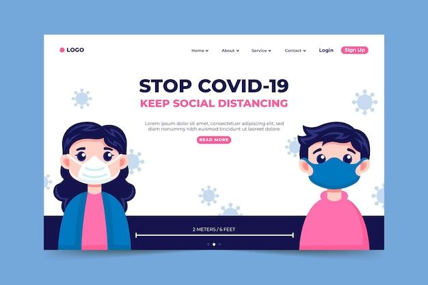 Fermare la pagina di destinazione del coronavirus