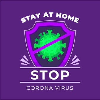Stop coronavirus with matches concept