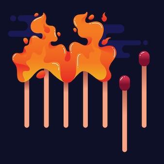 Stop coronavirus with matches