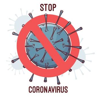 Стоп коронавирус с вирусом
