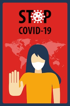 Stop covid-19 coronavirus concept. novel coronavirus (2019-ncov).