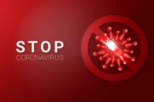 Stop covid-19 coronavirus disease background illustration