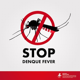 Stop denque fever and stop mosquito illustration.