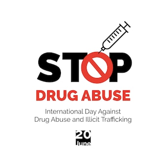 Stop drug abuse poster.