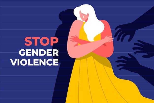 Остановить гендерное насилие и остановить концепцию дискриминации Бесплатные векторы