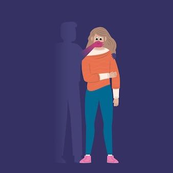Stop gender violence concept
