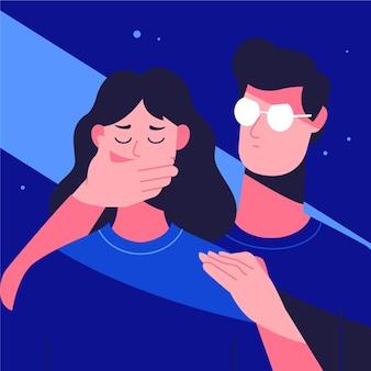 Stop gender violence illustration