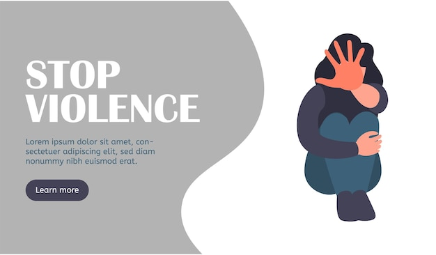 Stop harrasment landing web page stop violence