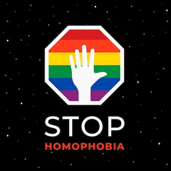 Stop homophobia illustrated