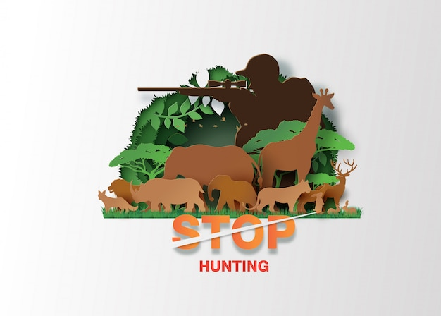 動物の狩猟をやめる