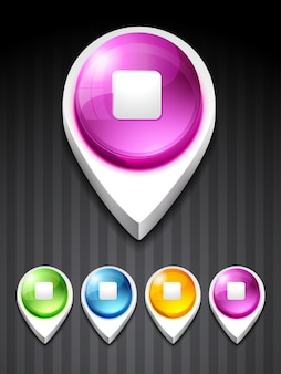 Stop button circular symbol Icons   Free Download