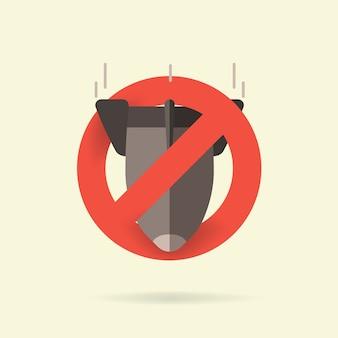 Остановить ядерное оружие, запретить значок бомбы