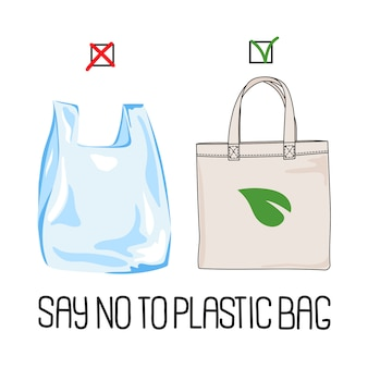 Stop plastic global ecological problem vector