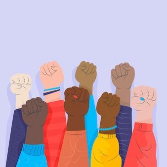 Stop racism concept
