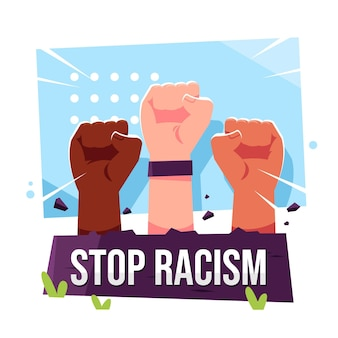 Stop racism design