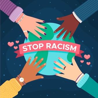 Ferma il disegno illustrato del razzismo