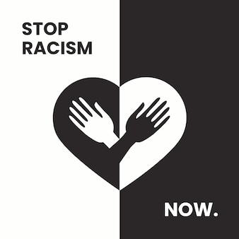 Stop racism illustrated