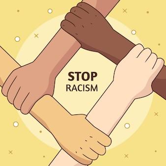 Stop racism illustration concept