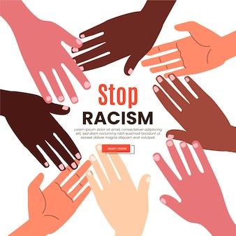 人種差別の図の概念を停止します。
