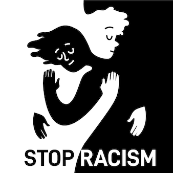Stop racism illustration
