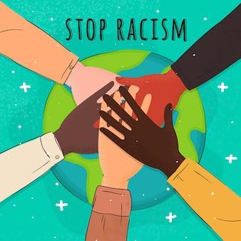 Остановите расизм иллюстрации