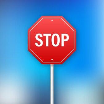Знак стоп для дизайна баннера. информационный знак. векторная иллюстрация штока.