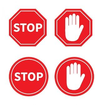Stop sign set.