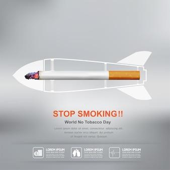 배경 캠페인 세계 no tobacco day에 대한 금연 개념.
