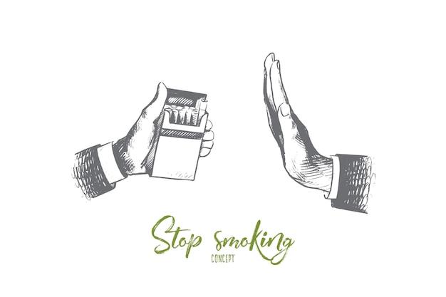 Бросьте курить иллюстрации концепции