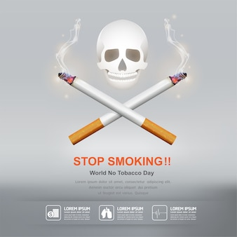 Stop smoking concept world no tobacco day