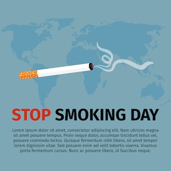 Stop smoking day poster