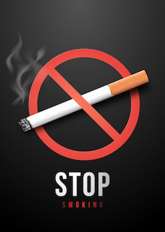 Stop smoking placard.