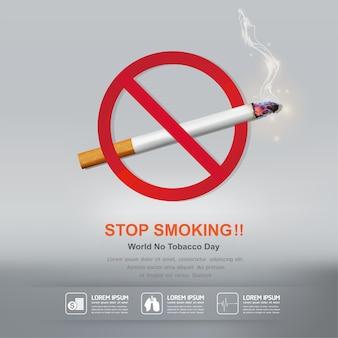 Stop smoking poster design