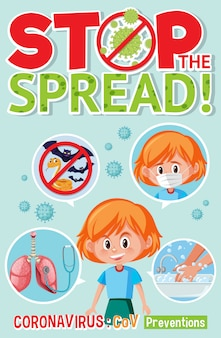 Stop spread corona virus sign