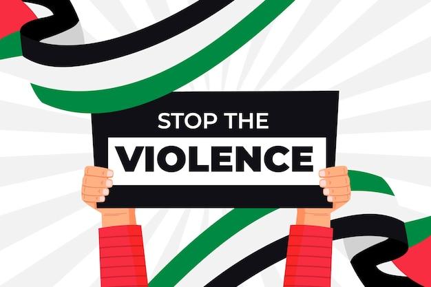 Остановить фон сообщения о насилии Бесплатные векторы