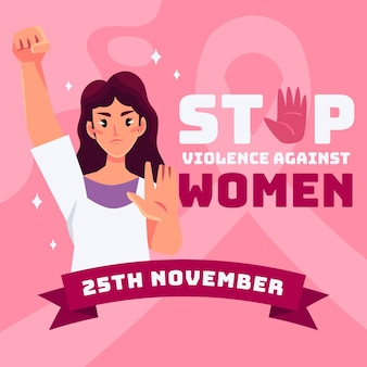 Stop violence against women theme