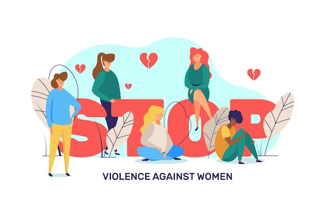 Stop violence illustration