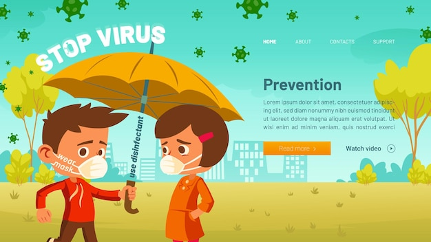 Ferma il banner del virus