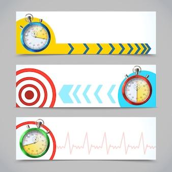Stopwatch banners horizontal